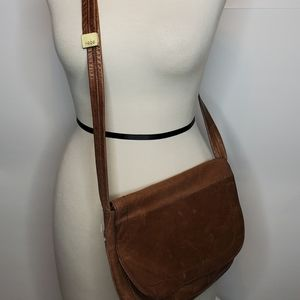 HOBO Caramel Leather Crossbody